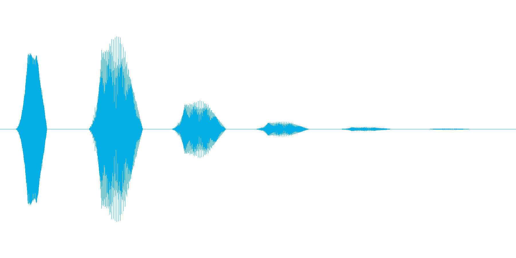 ファミコン風効果音 決定音系です 32の再生済みの波形