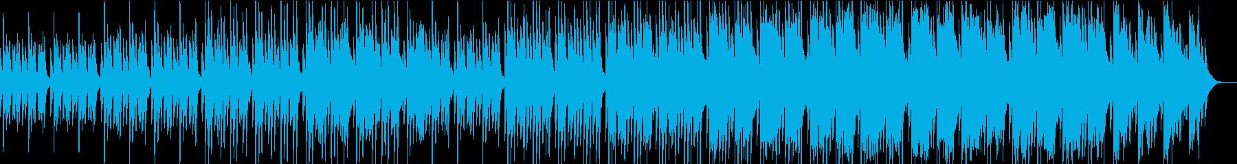 不可思議で冷たい質感のあるピアノ主体の曲の再生済みの波形