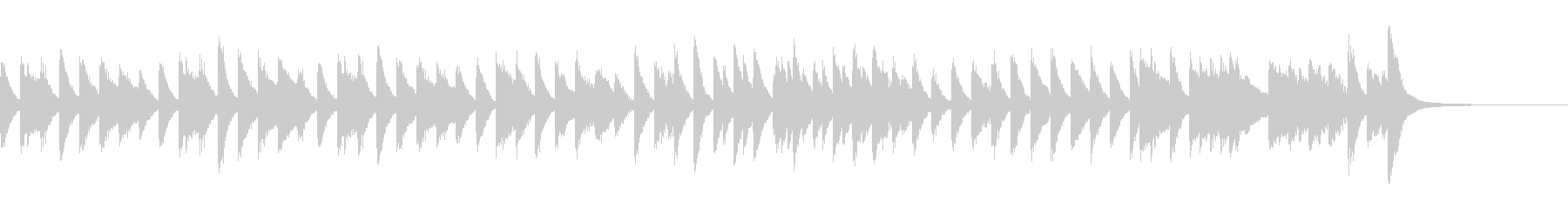 ジプシー風のアップテンポピアノジングルの未再生の波形
