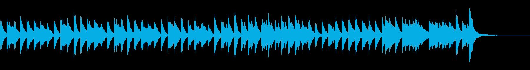 ジプシー風のアップテンポピアノジングルの再生済みの波形