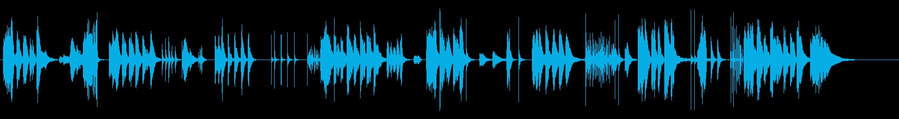 のんびりとした日常曲の再生済みの波形