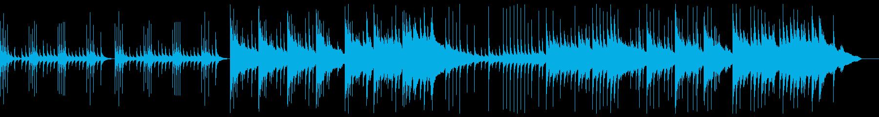 オルゴール中心の悲しいBGMの再生済みの波形