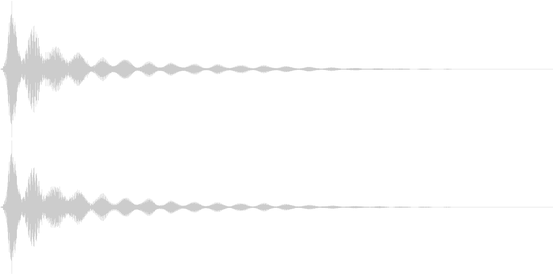UI決定音、うれしい系表示音等の未再生の波形