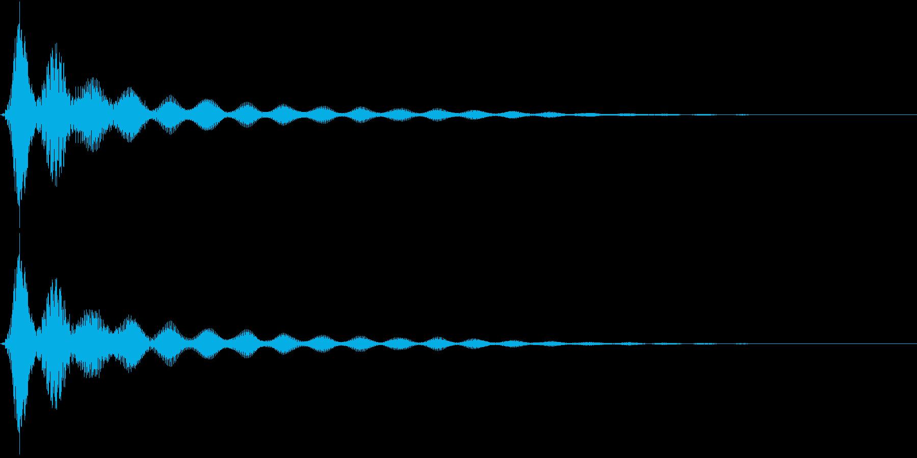 UI決定音、うれしい系表示音等の再生済みの波形