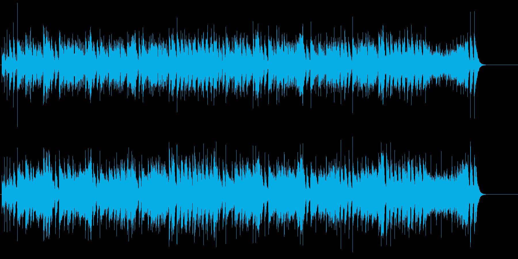 シンプルなファンキー・ギター(ロック)の再生済みの波形