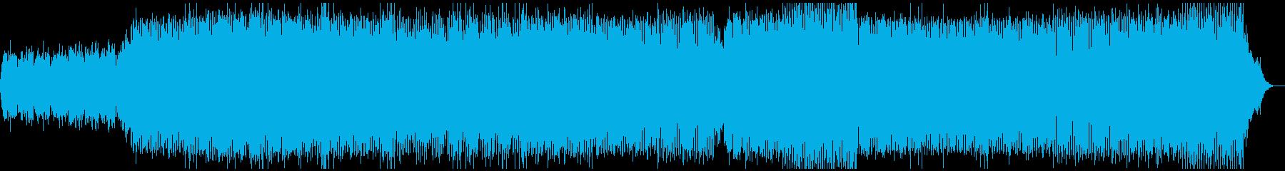 上昇気流をイメージしたミニマルテクノの再生済みの波形