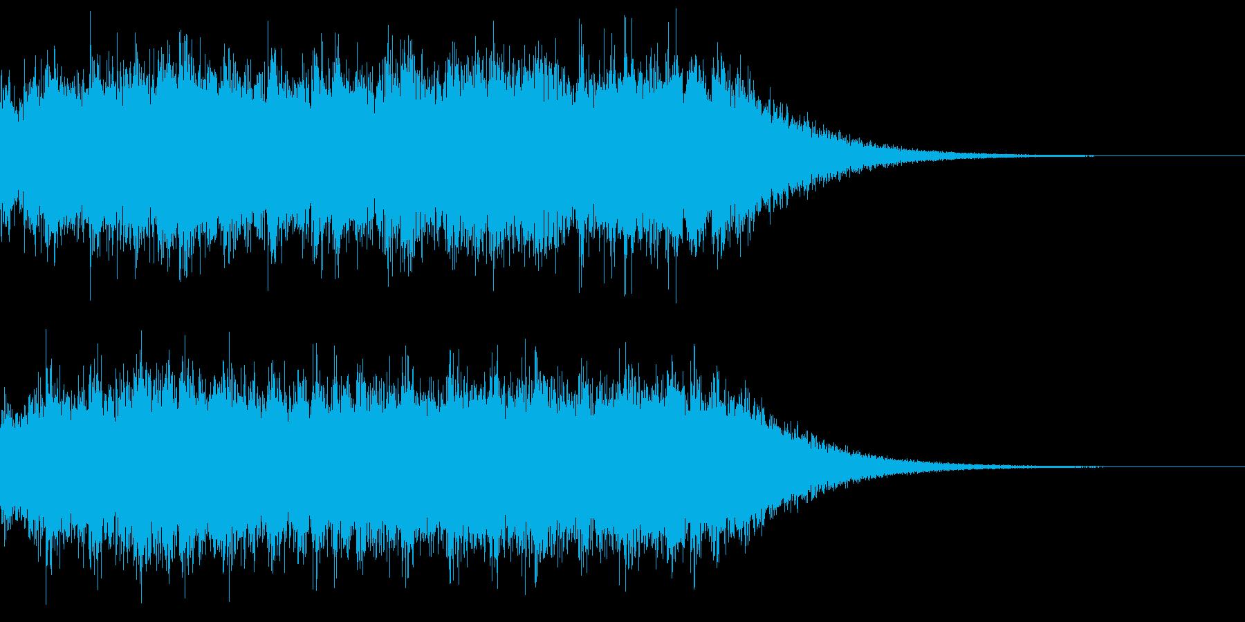 大歓声+拍手の再生済みの波形