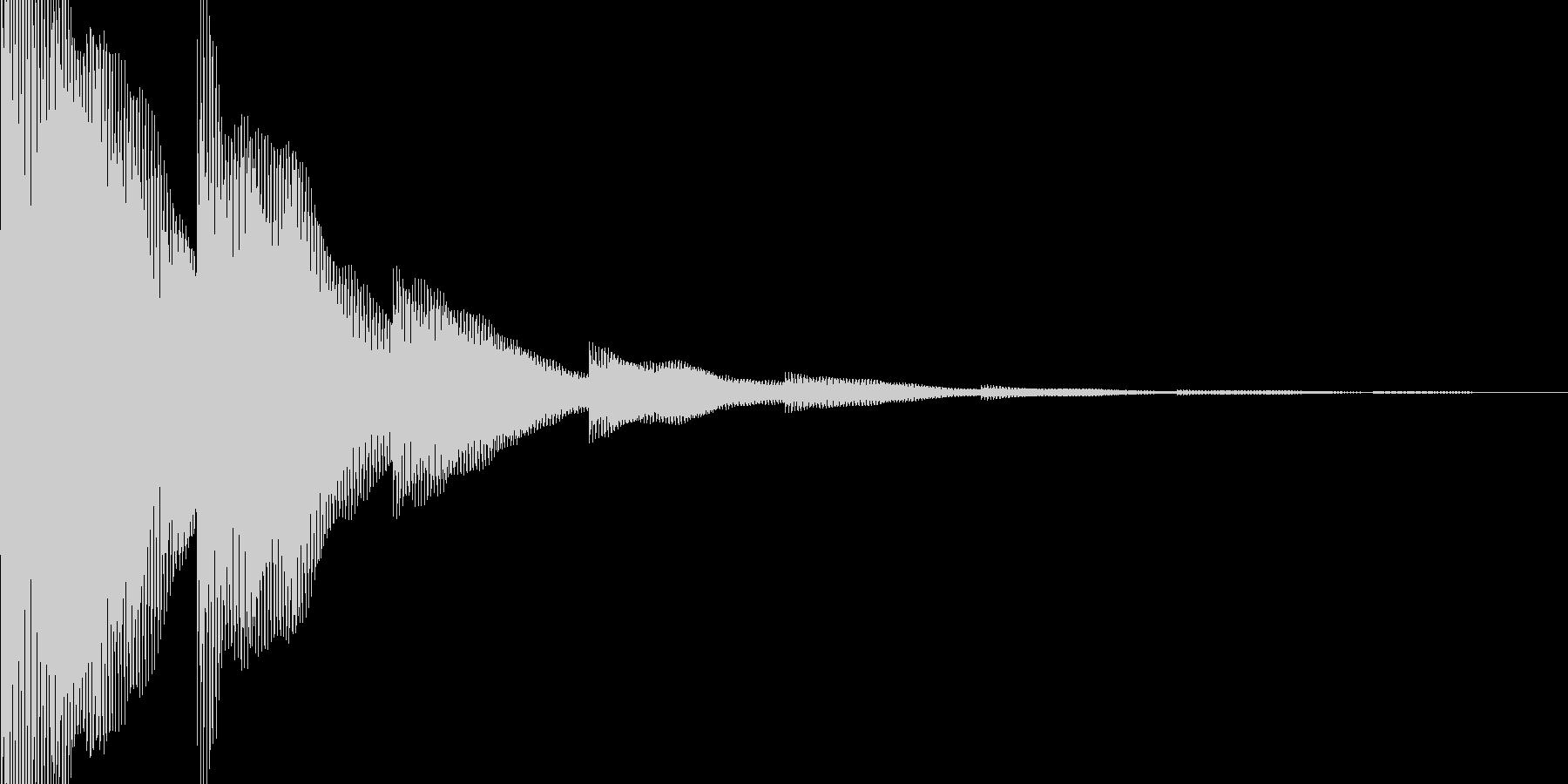 ゲームの決定音の未再生の波形