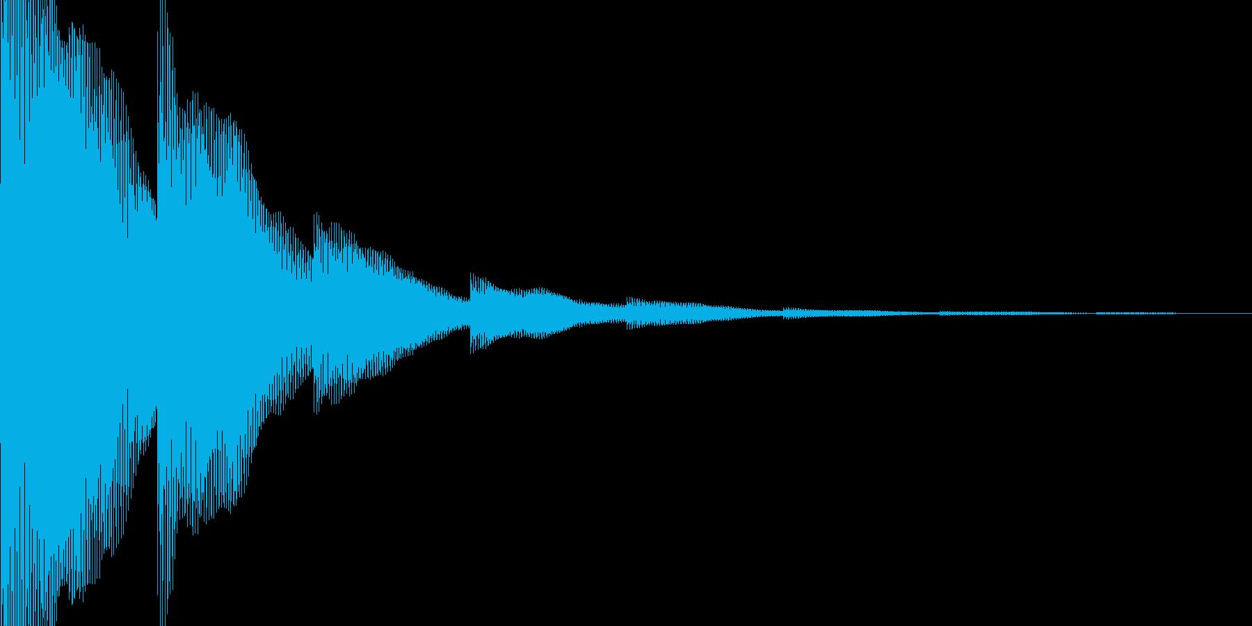 ゲームの決定音の再生済みの波形