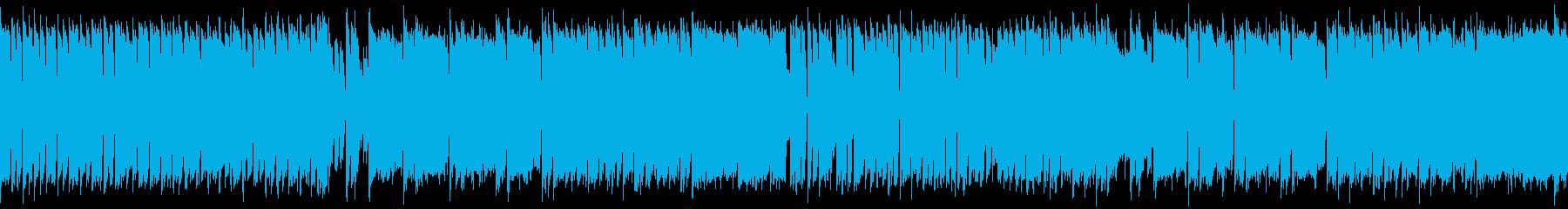 【ループ】カンフー・中華風チップチューンの再生済みの波形