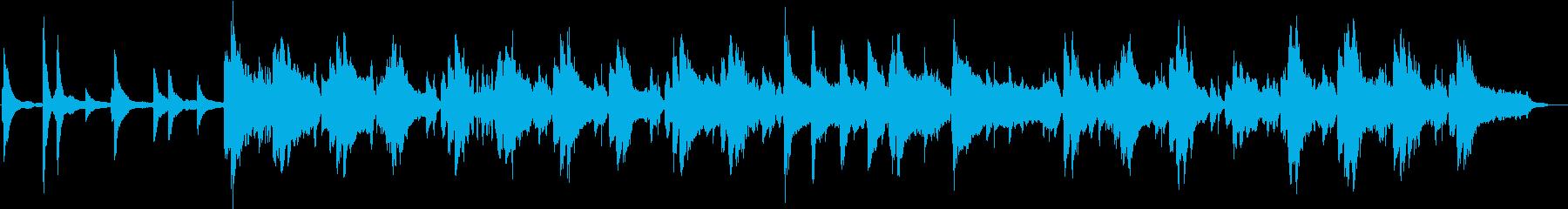 ピアノと笛が奏でる不思議な山の曲の再生済みの波形