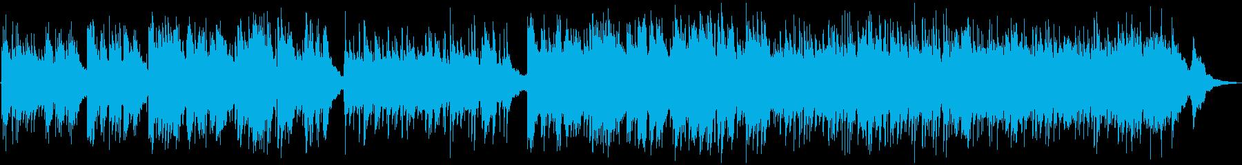 穏やかで温かい音色のアコースティックの再生済みの波形