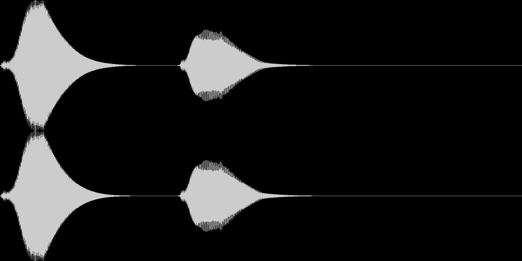ポッポー。鳩時計の時報C(低・短)の未再生の波形