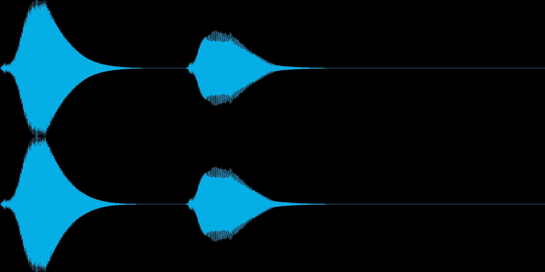 ポッポー。鳩時計の時報C(低・短)の再生済みの波形