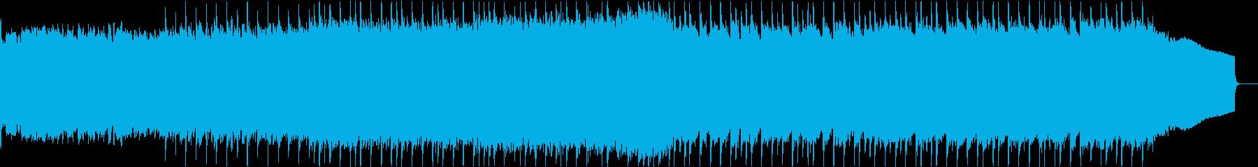 明るくポジティブな雰囲気のBGMの再生済みの波形