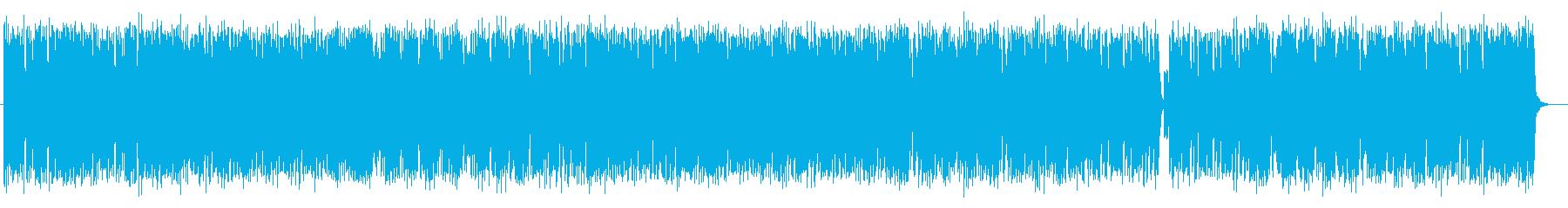 リズミカルで勢いのあるテクノの再生済みの波形