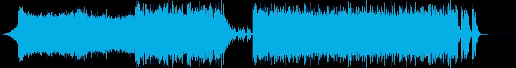 4つ打ちデジタルサウンドの入場SEの再生済みの波形