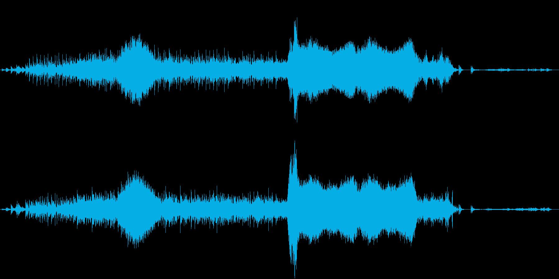 ホラー/horror/アジア寺院ループ曲の再生済みの波形