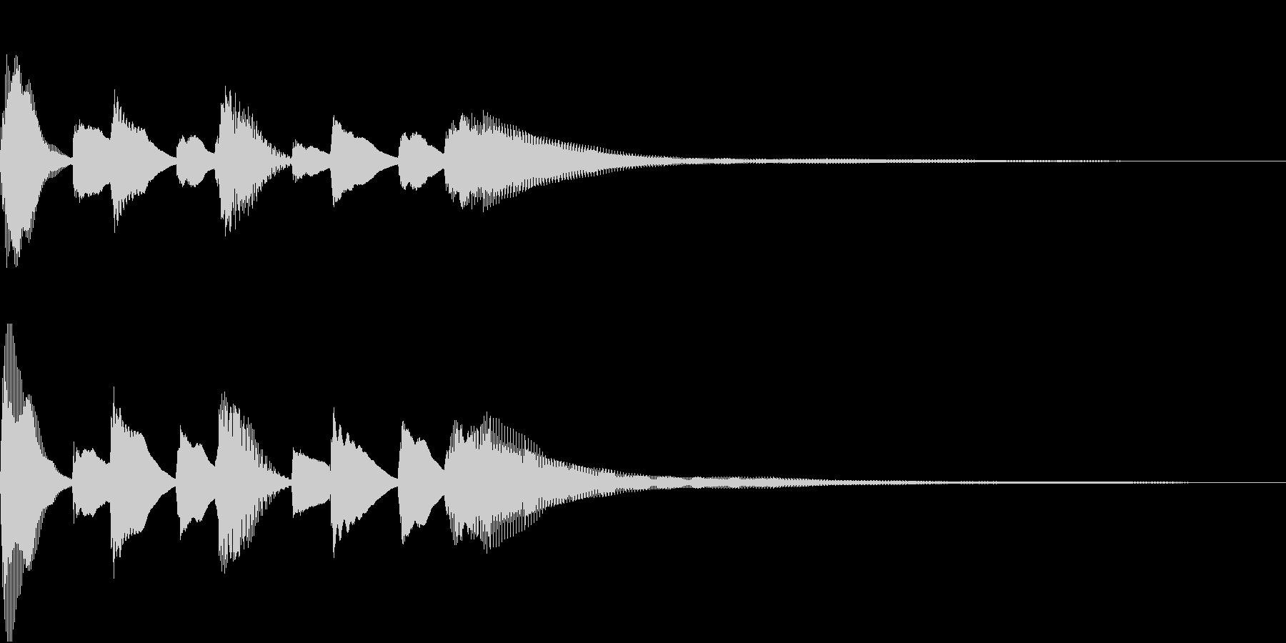 Gentle piano opening jingle's unreproduced waveform
