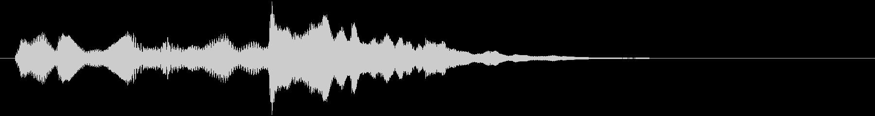 ベルトーンの爽やかなサウンドロゴの未再生の波形