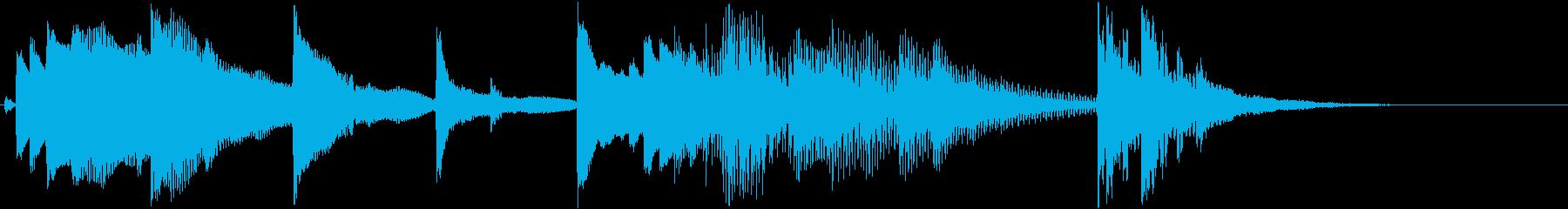 琴のワンフレーズ(和風)の再生済みの波形