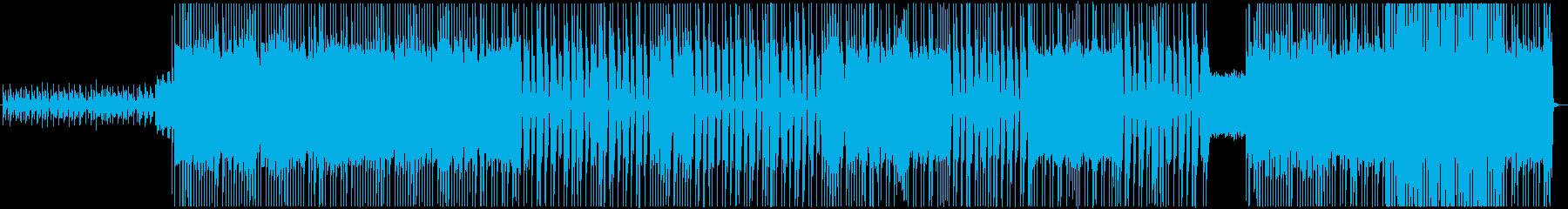 スリリングでハードなメタルバンドの再生済みの波形