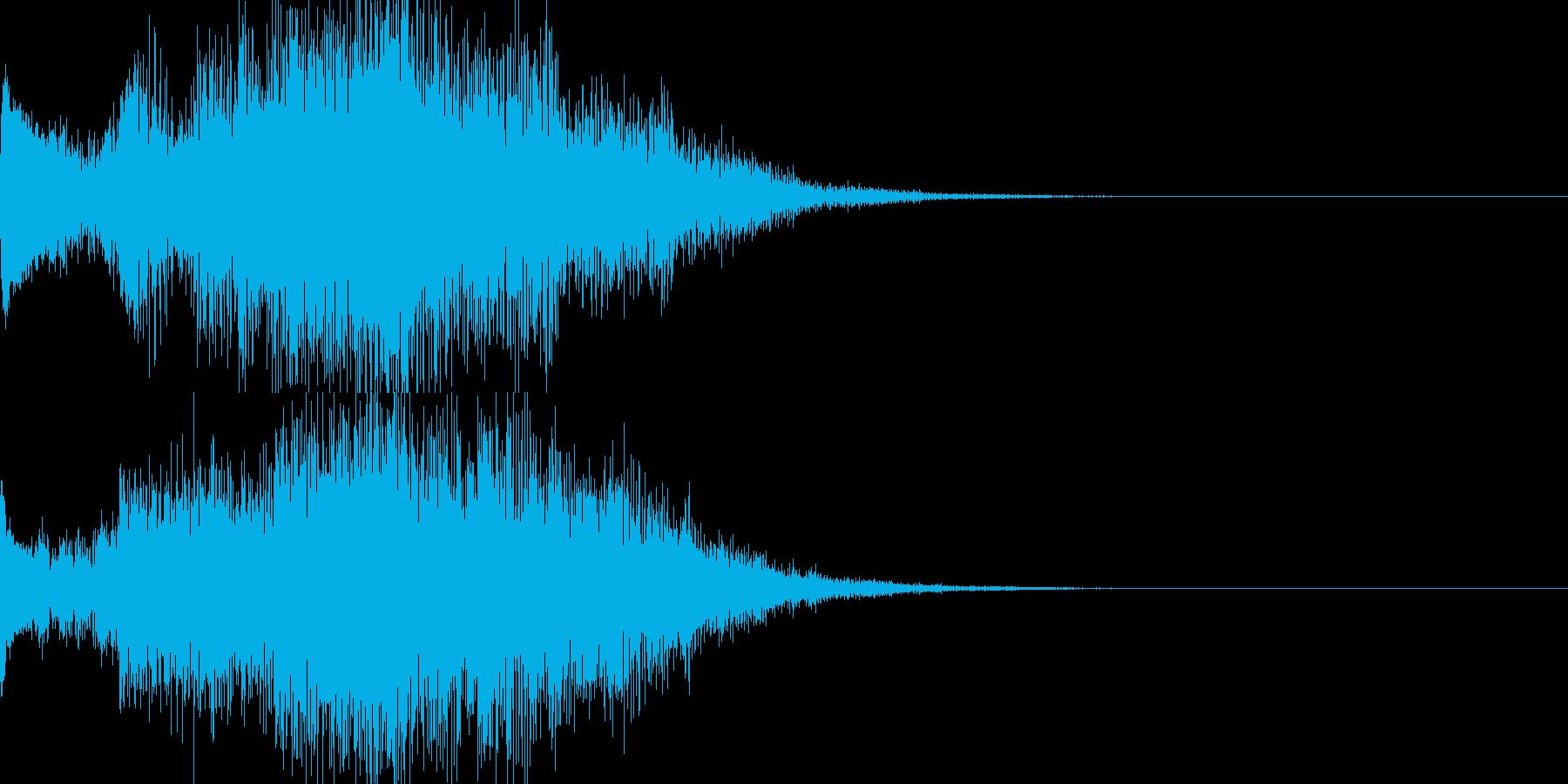 アンビ感のあるサウンドロゴの再生済みの波形