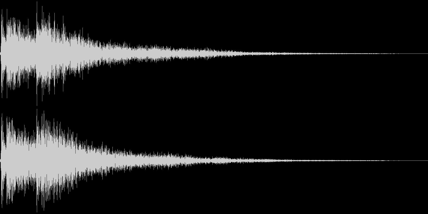 三味線の和風なジングル インパクト2の未再生の波形