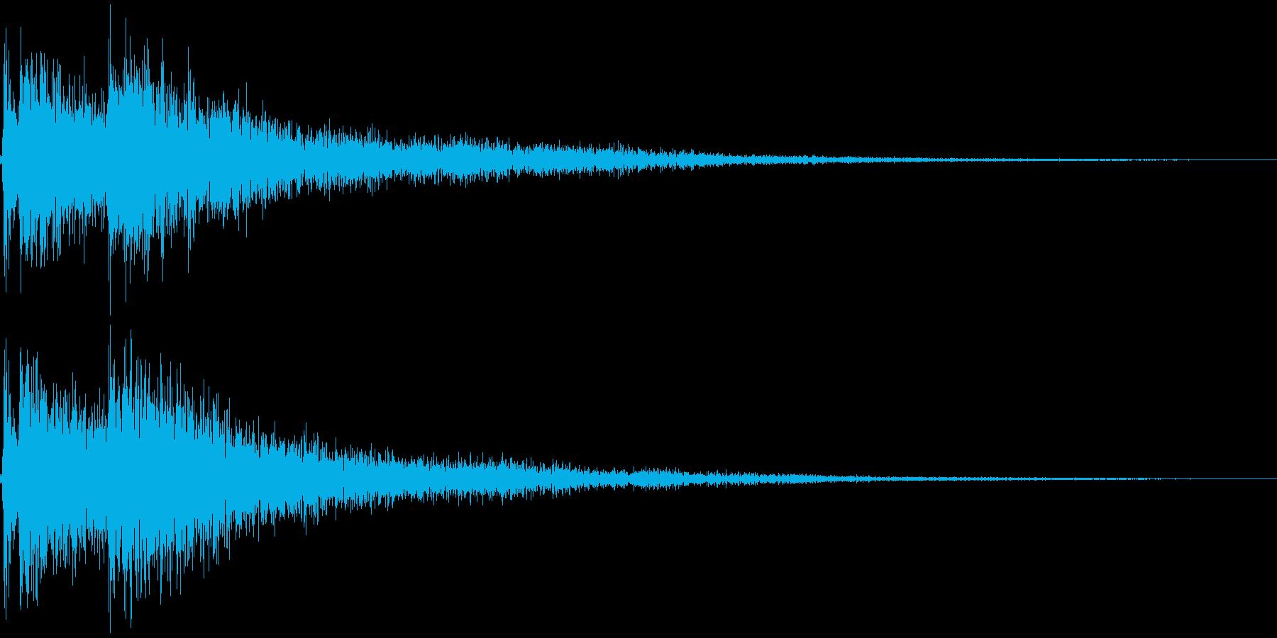 三味線の和風なジングル インパクト2の再生済みの波形