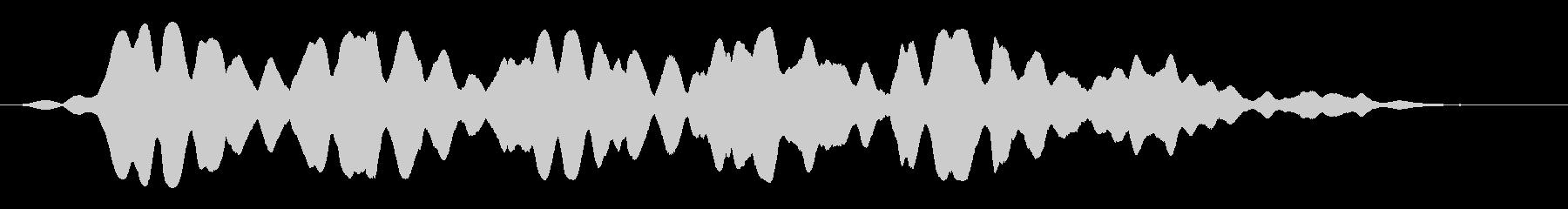 フゥワァーーーーンと飛ぶ飛行物体の未再生の波形