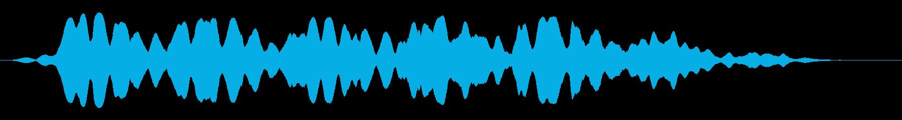 フゥワァーーーーンと飛ぶ飛行物体の再生済みの波形