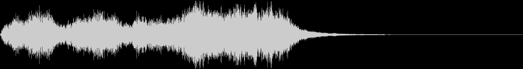 管弦楽による浮遊感のあるジングルの未再生の波形