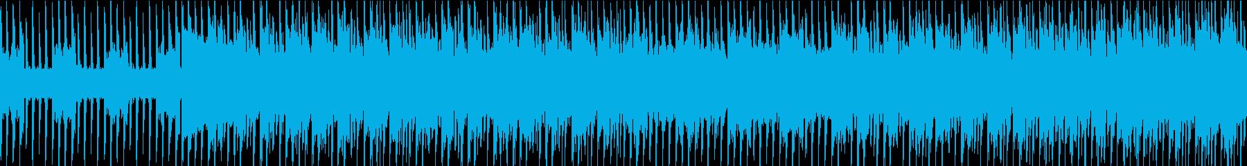テンション高めの突き抜けるテクノの再生済みの波形