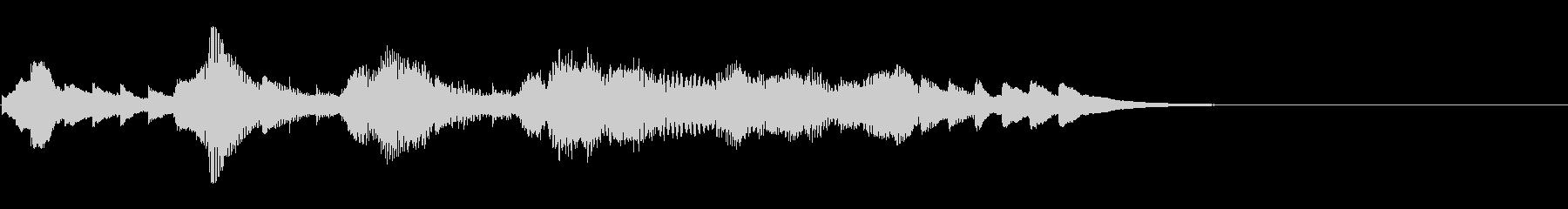 一件落着のオルゴール/サウンドロゴの未再生の波形