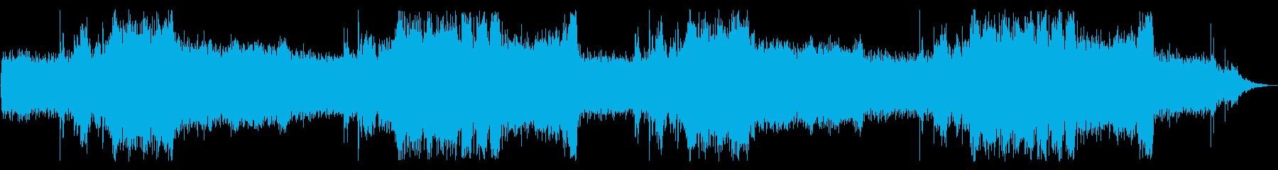 RPGのボス戦をイメージしたオーケストラの再生済みの波形