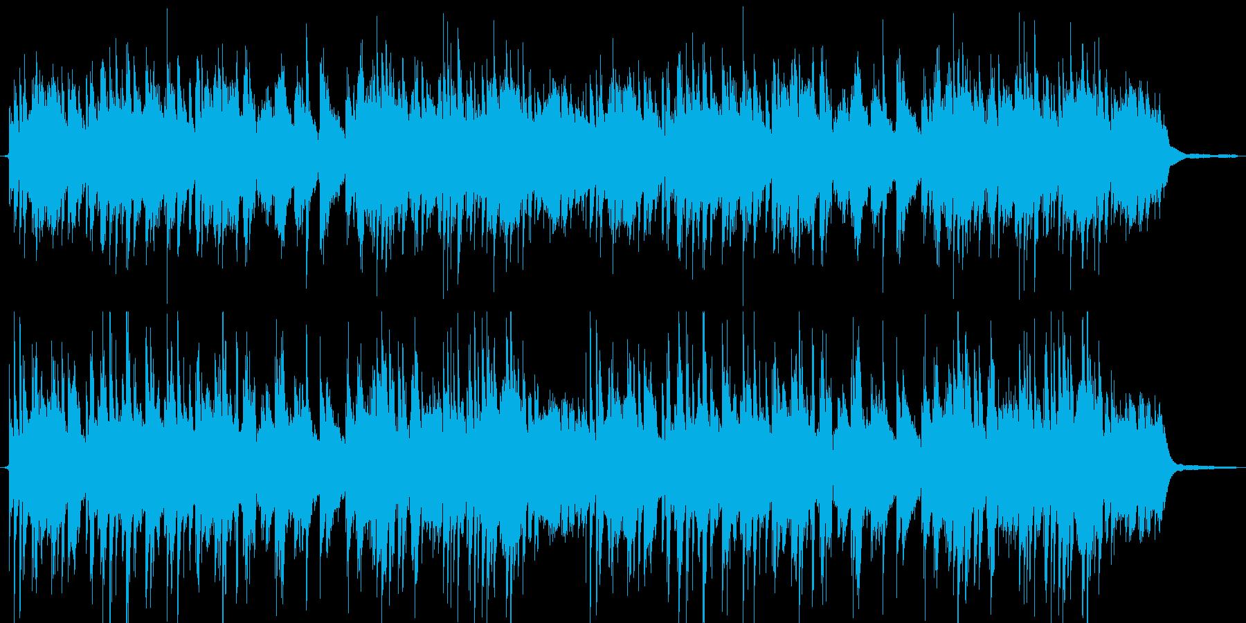 やさしいゆったりとしたピアノの再生済みの波形
