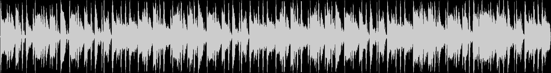 軽快なブラスサウンドのループBGMの未再生の波形