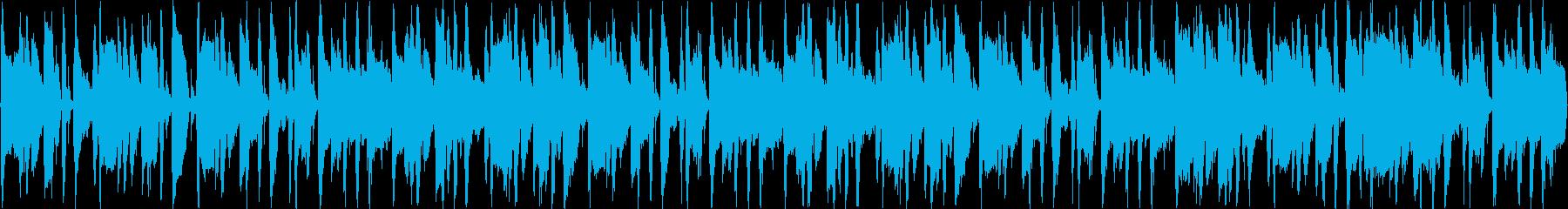 軽快なブラスサウンドのループBGMの再生済みの波形