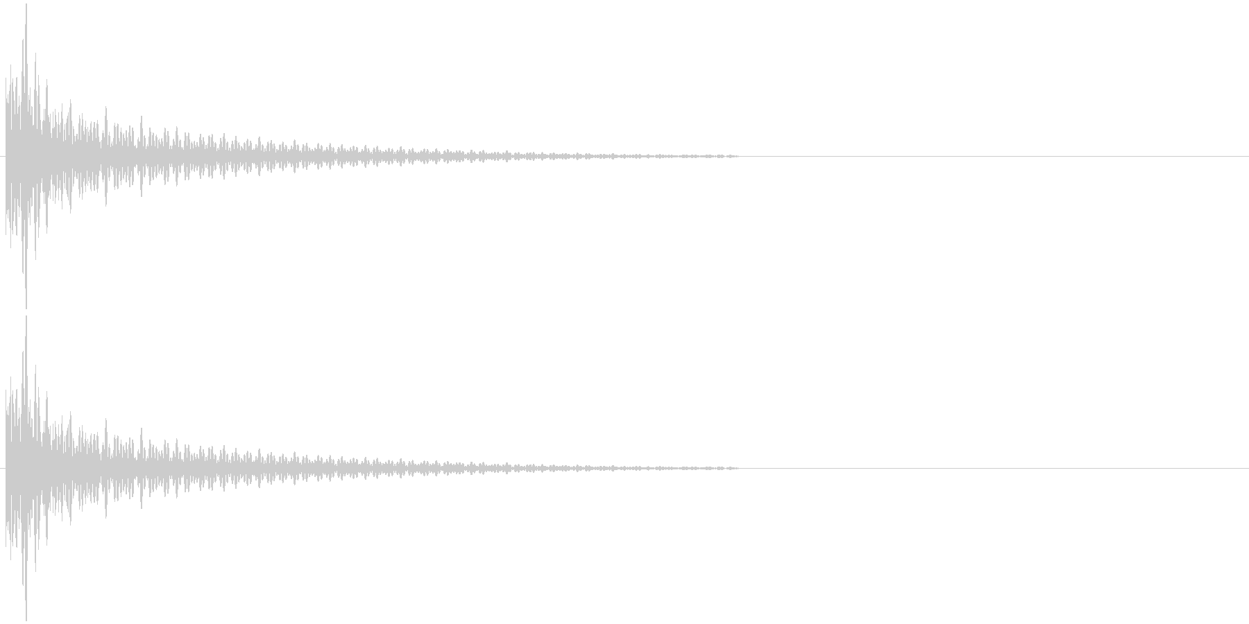 バチの音 カッの未再生の波形