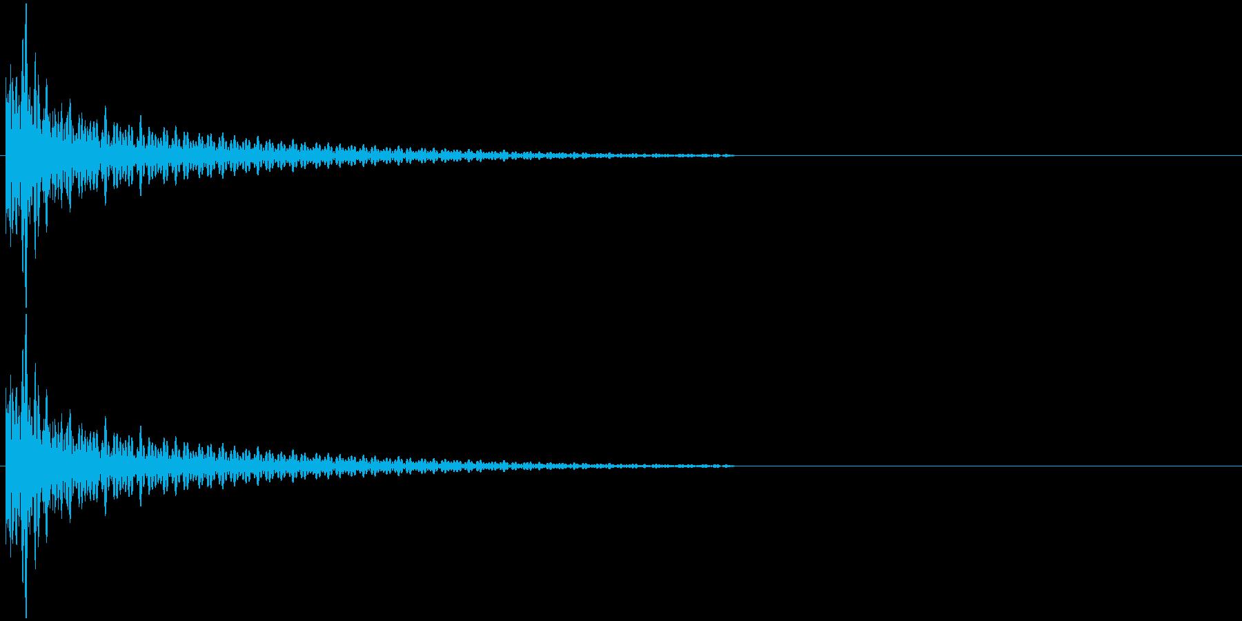バチの音 カッの再生済みの波形