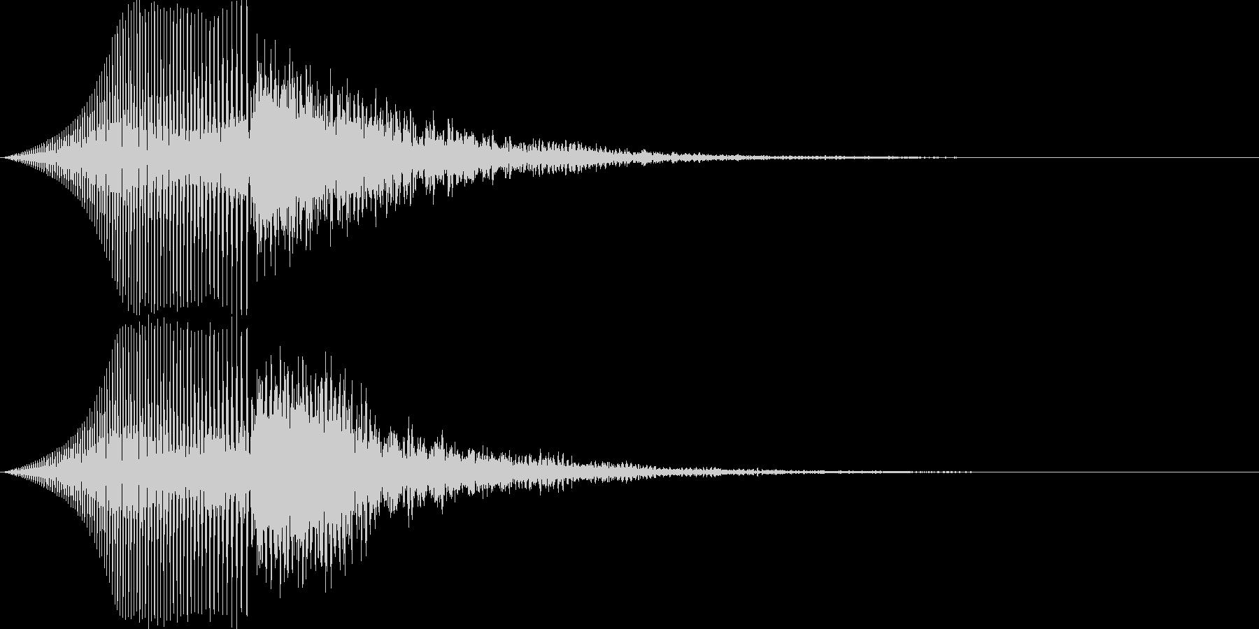 ブーンと現れた後に魔法で消える効果音の未再生の波形
