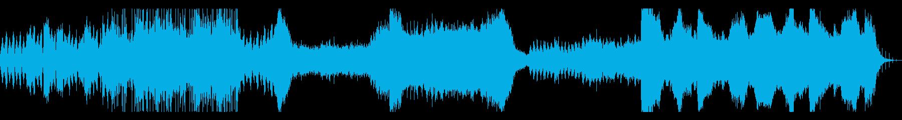 ウェット感のあるアンビエント系BGMの再生済みの波形