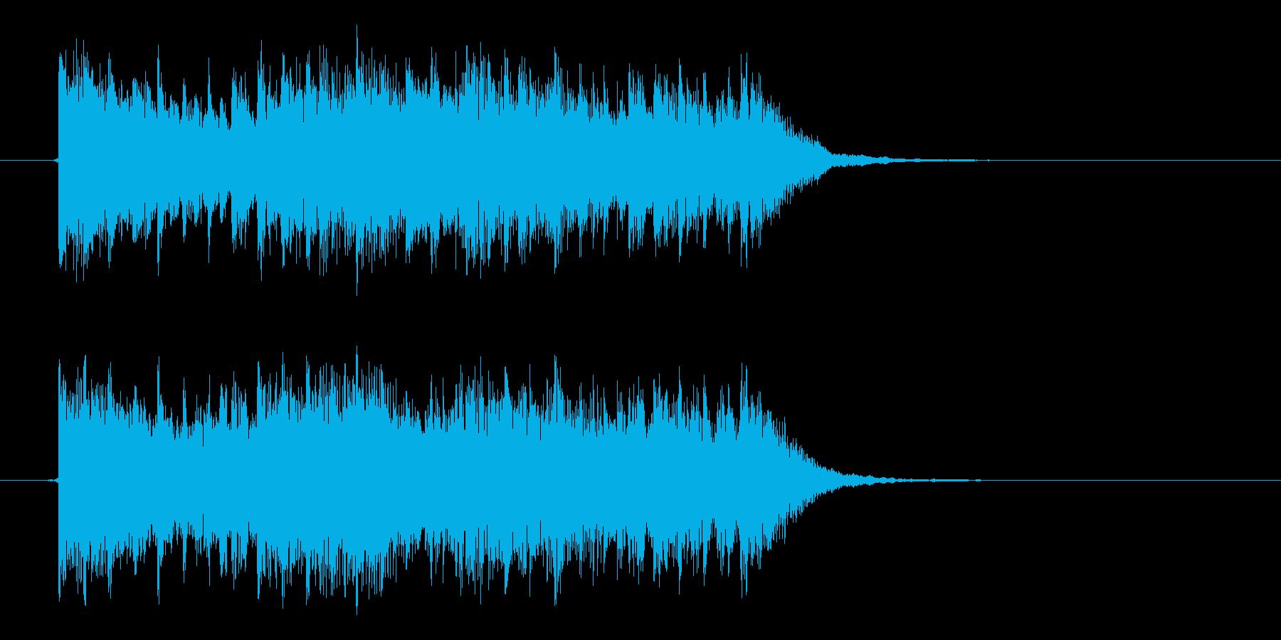 緊迫感のあるテクノポップスの再生済みの波形