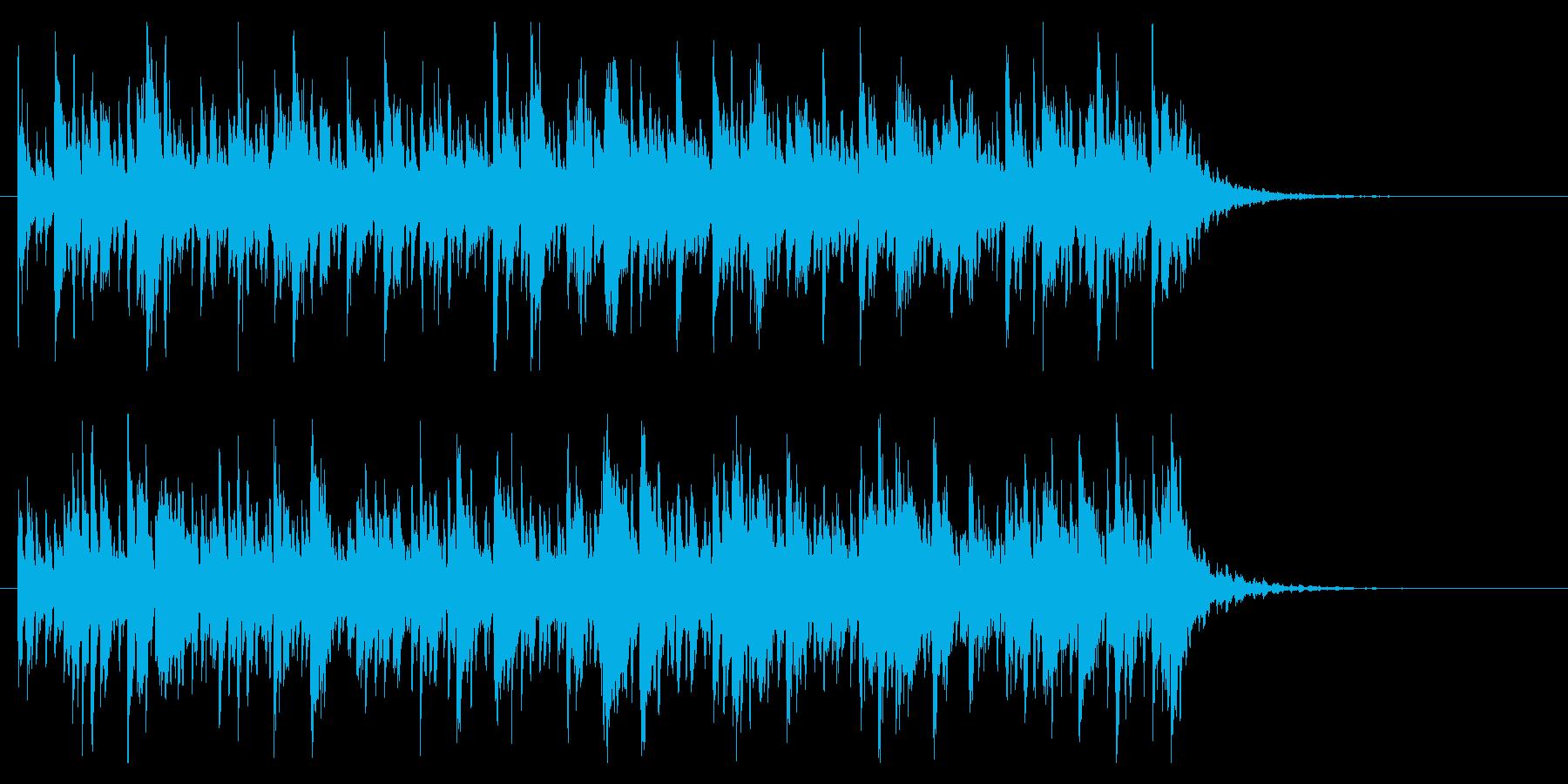 不思議でかわいくポップなBGM(短曲)の再生済みの波形