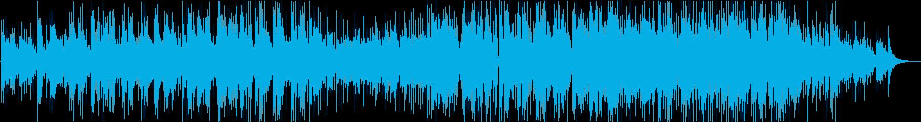 アコギとピアノのバラードの再生済みの波形