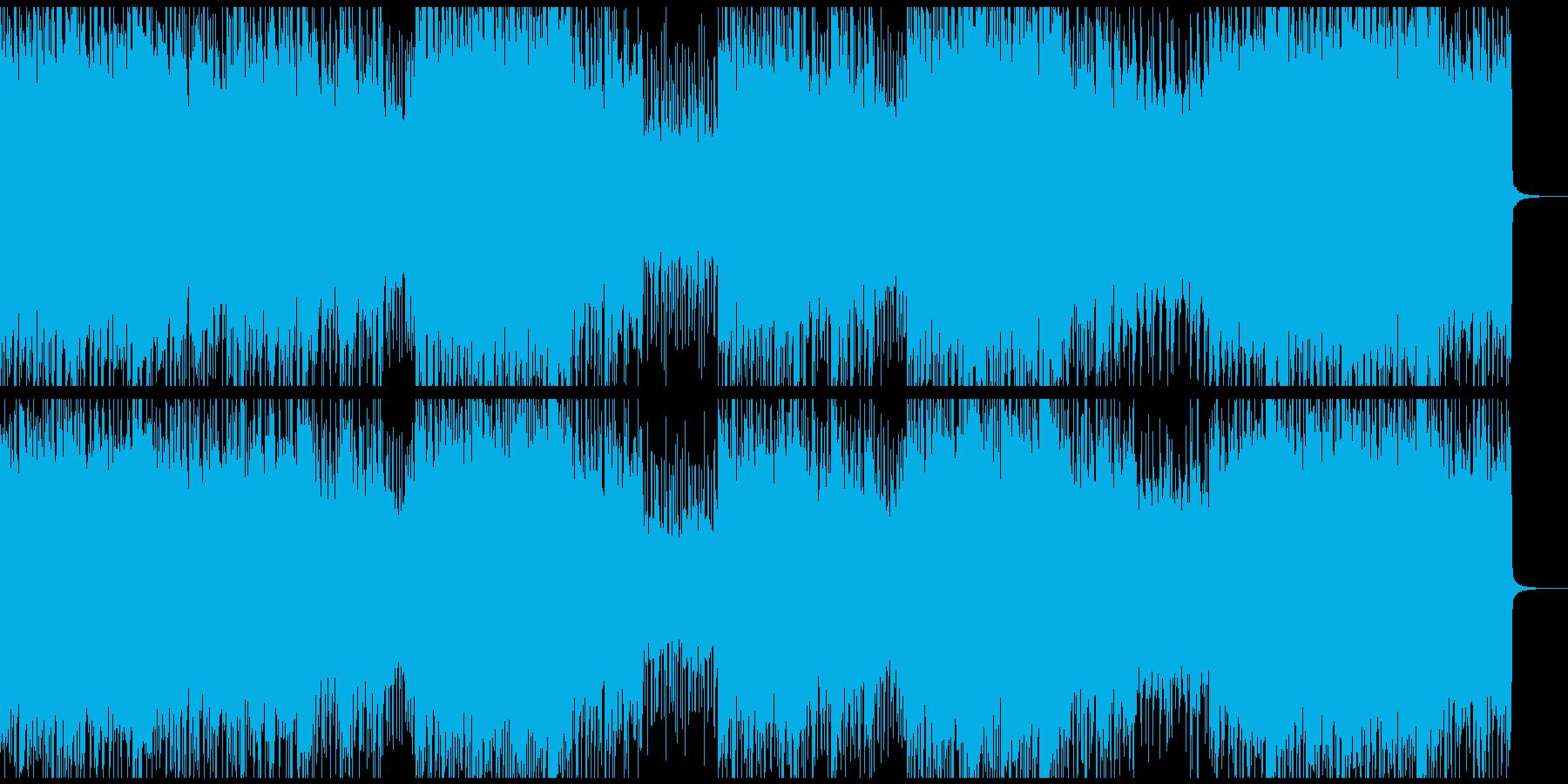 爽やかなロック/エレキギター/ピアノの再生済みの波形