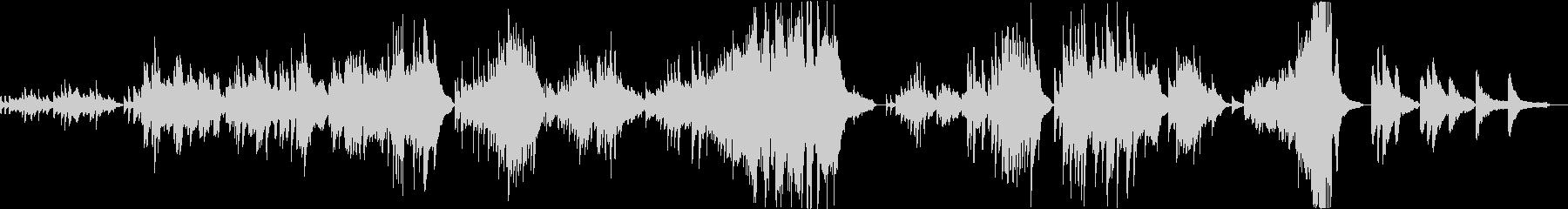 願う事より願い続けるピアノバラードの未再生の波形