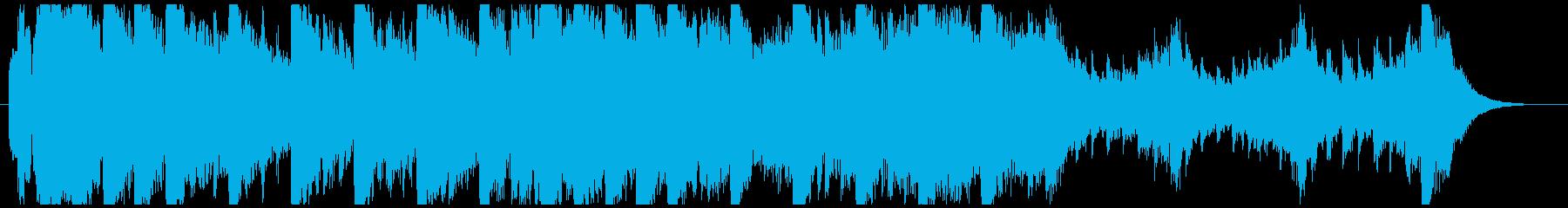 ハローウィン用のホラー曲-30秒の再生済みの波形