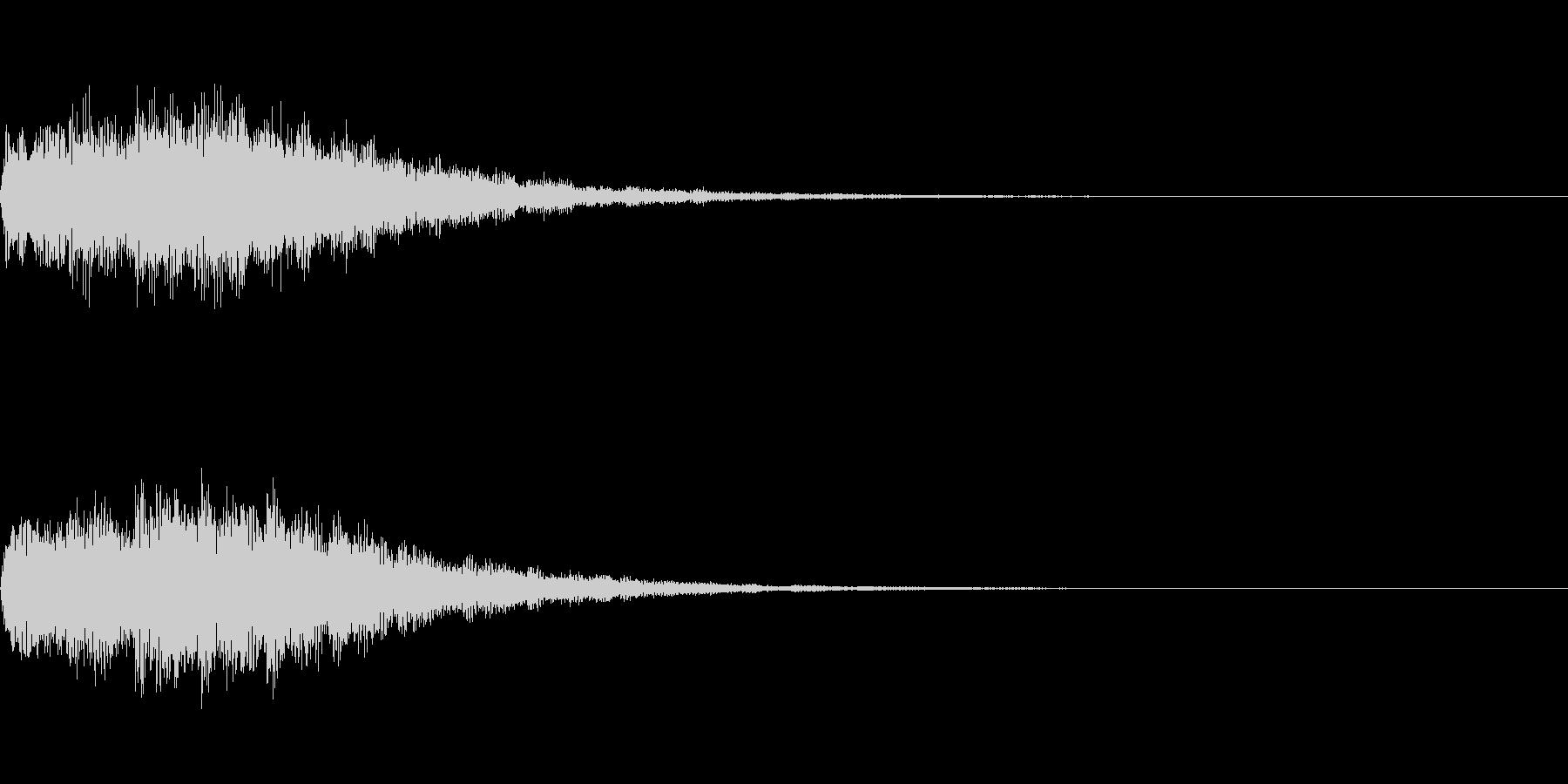 ゲーム/アプリ/起動/スタート/決定音の未再生の波形