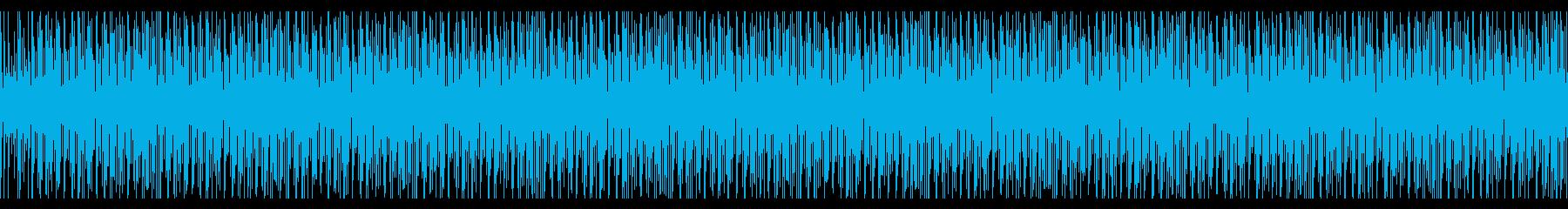 トークの後ろで流れそうなBGMの再生済みの波形